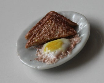 1/12th Scale Toast and Egg