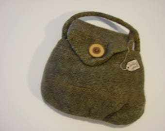 Hand knit and felted Linda Purse