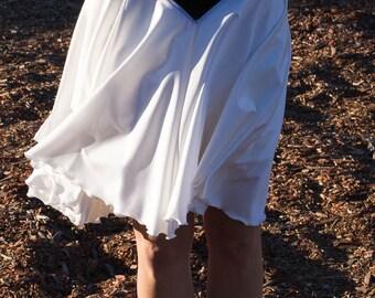 Ballroom Dance Skirt, Vintage Dance Costume Black and White Skirt Size Medium