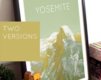 Yosemite Half Dome Poster 11x17 18x24 24x36