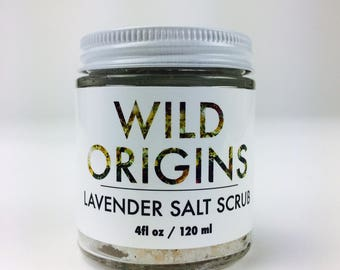 lavender salt scrub - herbal exfoliation and soak with himalayan pink salt