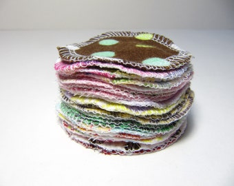 Reusable Facial Rounds, 10 or 20 Cosmetic Rounds, Makeup Remover Pads, Eco-Friendly Face Scrubbies, Add on WASH BAG