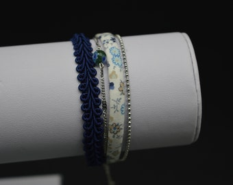 M155 blue MULTISTRAND bracelet