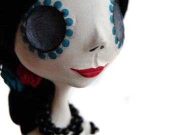 Day of the Dead Art - Dia de los muertos - Sugar Skull - Mexican Folkart