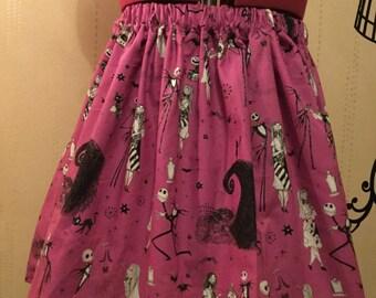 Nightmare Before Christmas Handmade Skirt
