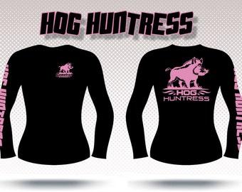 Gametrax Outdoors long sleeve women's hog hunting t shirt,huntress shirt,