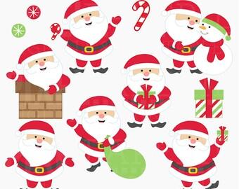 santa clipart clip art christmas - Sweet Santas Digital Clipart - BUY 2 GET 2 FREE