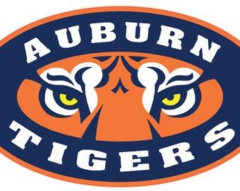 "Auburn University Tigers 4"" to 14"" FULL COLOR vinyl decal sticker"