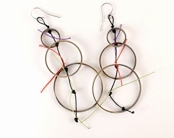 Bubbles colorful and playful boho chic earrings