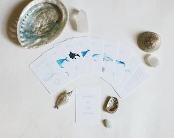 Whales of the Moon Affirmation Deck