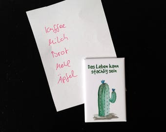 Kühlschrank Magnet, Kaktus Magnet, Kaktus Illustration, Kaktus Deko, Küchen Deko, Kaktus Spruch, Sukkulenten Motiv, Adventskalender, Kakteen