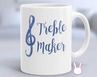 Treble Clef - Music Note - Music Teacher Gift - Music Student Gift - Piano Teacher Gift - Musician Mug - Music Lover Gift - Music Decor