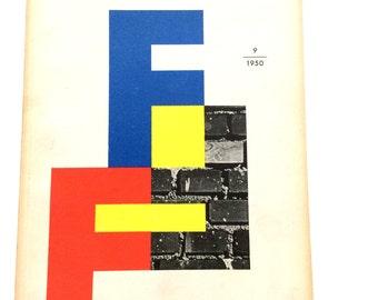 Gebrauchsgraphik Magazine International Advertising Art 1950 Issue 9