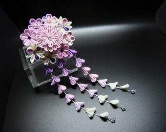 TSUMAMI KANZASHI hair accessory hair pin (purple)