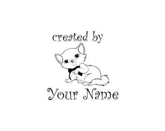 Personalized Custom Made Name Unmounted Rubber Stamps C20