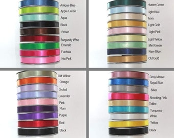 3-8 inch x 100 yds Single Face Satin Ribbon