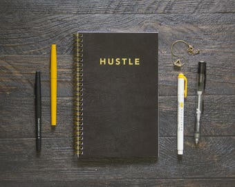 Medium Monthly Planner (120-Pages) | 24 Months | No Weekly Pages | Hustle Agenda