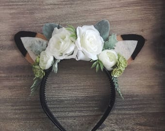 Floral true doe- NO ANTLERS headband