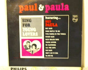 Sing For Young Lovers by Paul & Paula, music, lp music, lp record, vinyl record
