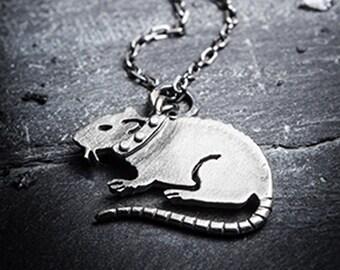 PUNK RAT-silver necklace