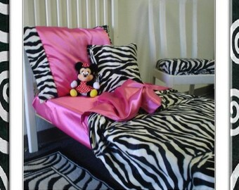 Zebra Print Toddler Bedding Set