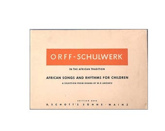 African Songs and Rhythms for Children, 1971, First Edition, Ghana Africa Music