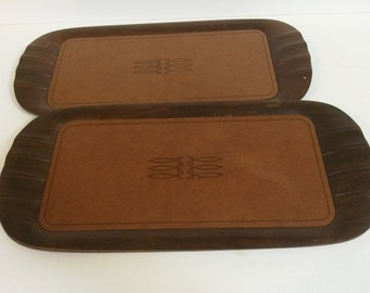 Set of 3 Vintage Toastmaster Wooden Trays