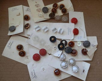 Vintage Schwanda Glass Buttons- 55 Assorted .....Lot 742