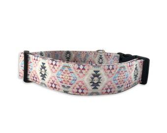 Ikat Dog Collar, Embroidered Dog Collar, Personalized Dog Collar, Dog Collar, Dog Collar, Girl Dog Collar, Tribal Dog Collar, Aztec Dog