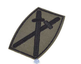 Coat of arms embroidered military Crest swords fusible patch army 7,8 cm