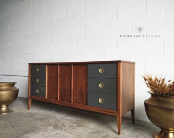 SAMPLE: 9 Drawer Mid Century Dresser