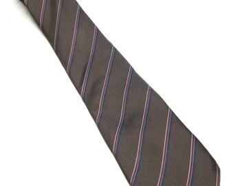 Brown Silk Necktie Isaco Tie