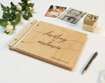 "Wedding Guest Book, Photo Booth Guest Book, White and Gold Wedding, Photo Booth Photo Album, Calligraphy Guestbook, Wedding Decor 8.5"" x 11"""