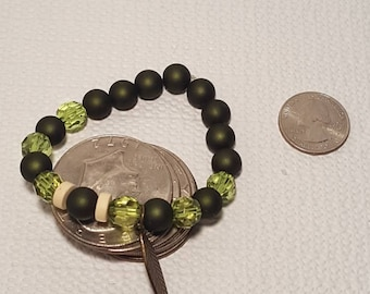 Shades of green beaded braclets