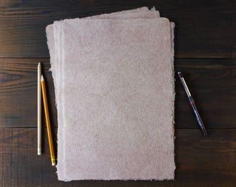 Handmade paper / Deckle edge paper / Textured paper / Eco friendly writing paper / Hemp fiber paper / A4 paper / Single sheet (code#28)