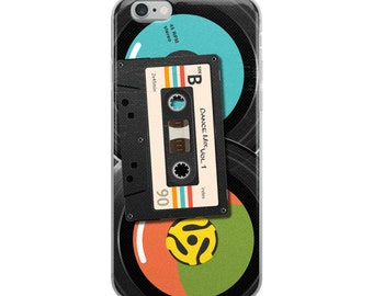 Retro Mix Tape and 45s iPhone Case