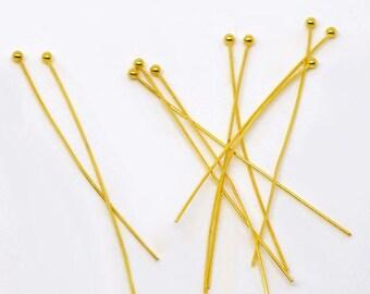 Golden 50 x 45mm soft ball pins
