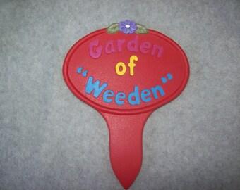 Ceramic Garden Stake Garden Decor Yard Decor Flower Garden Stake