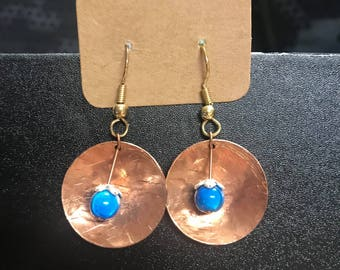 Copper & Blue Beads