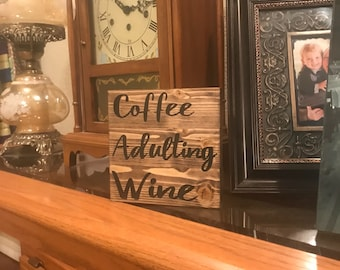 home decor, funny wood signs, bridal shower, gifts for her, baby shower gifts, gift ideas, wood signs, coffee table accents, home accents