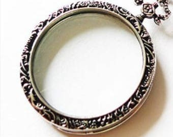 Magnifying Glass Necklace Pendant Monocle Magnifying Glass Necklace Pendant