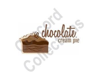 Chocolate Cream Pie - Machine Embroidery Design
