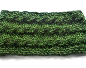 Cabled Tunisian Cowl - PDF Crochet Pattern - Instant Download