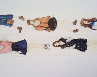 Design washi tape girl dresses & Skirts