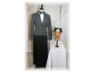 British Nanny / English Nanny / Mary Poppins / 1800's Nanny Costume-Large (J17)
