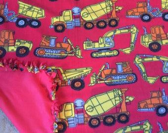 Construction Vehicle Flee Blanket