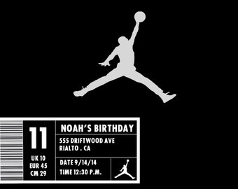 Jordan Shoe Box Invitation