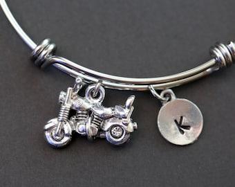 Biker Bracelet, Motorcycle Bracelet, Personalized Bracelet, Biker Gift, Personalized Motorcycle Gift, Initial Bracelet