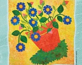Flowerpot - A Fused Art Quilt Pattern By Laura Wasilowski