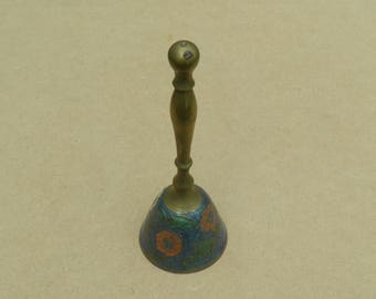Brass Bell - Floral Design - Vintage Brass